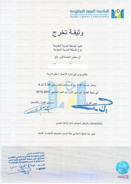 كم المده للحصول على شهادة التخرج وماهي الشروط المطلوبه لاعتماد الشهاده منتديات طلاب الجامعة العربية المفتوحة